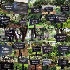Have you visited all of Savannah's squares?