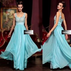Buy Blue Lace Chiffon Beaded Military Ball Gown Pageant Evening Dress SKU-122659