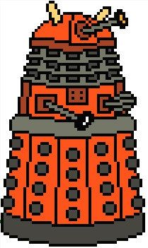 Doctor Who: Dalek PDF Chart Cross Stitch Pattern