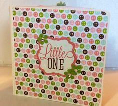 Bebé niña Scrapbook Premade páginas de álbum 5 x 5 por ascrapabove