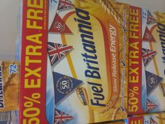 """Thanks to @belic (via Twitter) for """"Fuel Britannia"""" Weetabix, covered in #unnecessaryunionjacks"""