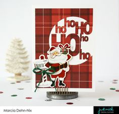 Ho Ho Ho Christmas card created with the PhotoPlay Paper Mad 4 Plaid Christmas collection and a JustNick Studios digital cut file. Canada Christmas, Christmas Tree Lots, Plaid Christmas, Christmas Paper, Winter Christmas, Holiday Cards, Christmas Cards, My Scrapbook, Scrapbook Layouts