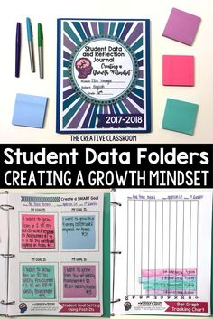 Student Data Folders: Goal Setting, Data Tracking, Reflections, and Growth Mindset Resources