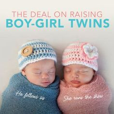 Raising boy-girl twins can be as challenging as it is rewarding. But you can relax, as many parental concerns are normal and have simple solutions.There's nothing more special than parading down the street with boy-girl twins in tow. The unending oohs and Twin Baby Boys, Boy Girl Twins, Twin Mom, Twin Girls, Twin Babies, Carters Baby, Twin Twin, Twins Announcement, Pregnancy Announcements