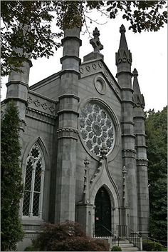 Mt Auburn Cemetery, such a romantic looking building