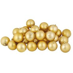 """180ct Matte Vegas Gold Shatterproof Christmas Ball Ornaments 2.5"""" (60mm) * See this great product. (This is an affiliate link) #SeasonalDcor"""