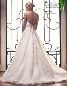 2212 (2) gown from the 2015 Casablanca Bridal collection, as seen on Bride.Canada Available at the bridal house.