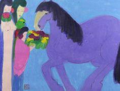 TING, Walasse. Watercolor on Paper. Three Geishas - Price Estimate: $10000 - $15000