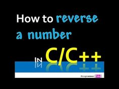 How to reverse a number (integer) in C/C++?