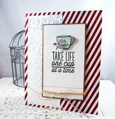 Coffee Lovers Blog Hop (with Blog Candy) by Lesley Croghan #vervestamps