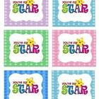 """This is a set of labels that read, """"You are my star.""""  These are nice for stars of the week, for students that are sharing information about themse..."""