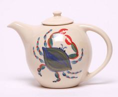 Ceramic Teapot - Blue Crab