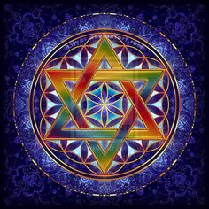 Flower of Life Tetrahedron by Lily A. Seidel