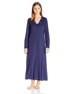 0ff4f51aaa92 Natori Womens Zen Floral Long Sleeve Lounger Midnight Navy L >>> Check this  awesome