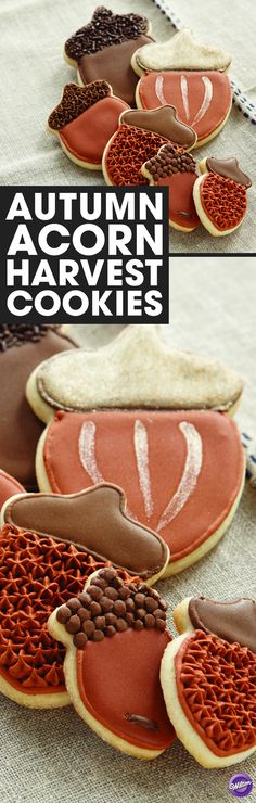 How to Make Autumn Acorn Cookies - Welcome fall with acorn-shaped cookies! Use our Color Flow Icing to bake these yummy cookies that will definitely be a hit at your pumpkin carving parties, Thanksgiving, or simply during an afternoon snack time with friends and family.