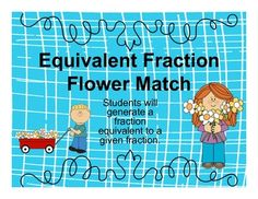 In+this+game,+students+will+determine+which+fractions+are+equivalent+to+a+given+fraction.+Students+will+match+the+fractions+on+the+flowers+to+the+equivalent+fraction+on+the+flower+pots.This+is+a+great+center+activity,+small+group+activity,+or+whole+class+activity. Small Group Activities, Class Activities, Equivalent Fractions, Flower Pots, Flowers, Activity Centers, Matching Games, Small Groups, Students