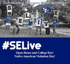 Open House, College Day and Native American Student Visitation Day all highlights of Southeastern Oklahoma University's event. Southeastern Oklahoma State University, Durant Oklahoma, New Students, Ark, Open House, Nativity, Native American, Highlights, College