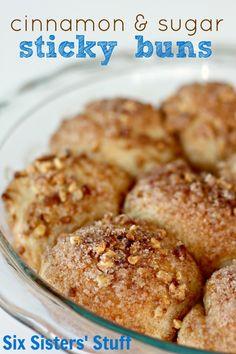Cinnamon and Sugar Sticky Buns Recipe