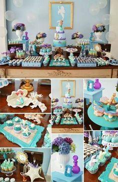 A pequena sereia #beautifulparty #festainfantil #party #girls #disney