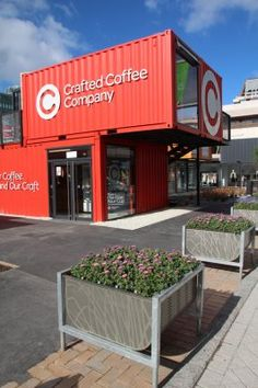 Shipping-container shopping mall in Christchurch |