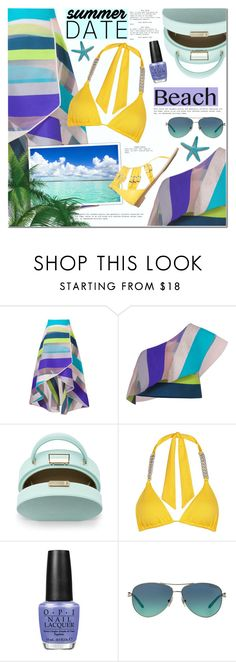 """""""Summer Date: The Beach III"""" by anna-anica ❤ liked on Polyvore featuring Ginger & Smart, BUwood, Biondi, OPI, Tiffany & Co., beach and summerdate"""