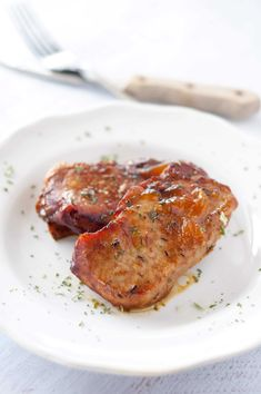 Slow Cooker Peach Glazed Pork Chops