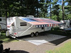 http://www.rvmaintenanceoptions.com/rvawnings.php has some info on factors to take into consideration when its time to purchase an awning for a rv.