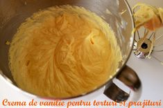 Crema de vanilie pentru torturi si prajituri - reteta de baza. Diy Kitchen, Sweet Recipes, Cookie Recipes, Fondant, Peanut Butter, Good Food, Food And Drink, Cheesecake, Pudding