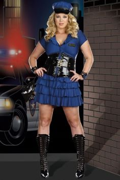 Plus Size Late Night Patrol Cotume Navy Blue Plus Size Cop Costume  sc 1 st  Pinterest : plus size cop costumes  - Germanpascual.Com