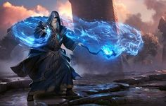 The mage himself and the magic color is perfect for arcanist but the etheral animal thing is reserved for shaman.