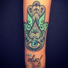 Spiritual Hamsa Tattoo Ideas From: TattoosWin.com/