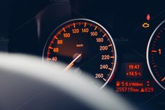 Car speedometer by michalkulesza on Creative Market #bmw #speedometer #dashboard