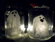 So cute! I love anything in a jar! DIY ghosts