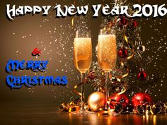 Merry Christmas 2015 And Happy New Year Background Wallpaper