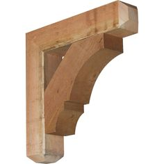 Traditional Craftsman Style Smooth Solid Wood Bracket | Pergolas ...