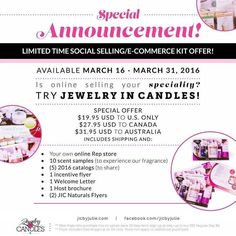 For 2 weeks you can join my JIC team for as little as $19.95.  DM me with any questions or head over to jicbyjulie.com to sign up.  #jicbyjulie #workathome #jicscents #directsales #bosslady