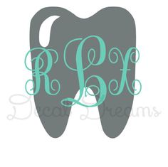 Tooth Dentist Dental Hygienist Monogram Vinyl Decal Dental Assistant Student Monogram Cute Girly Car Decal Phone Laptop Window Teeth Tooth by DecalDreams on Etsy https://www.etsy.com/listing/187609605/tooth-dentist-dental-hygienist-monogram