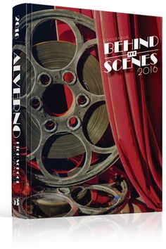 """Yearbook Cover - Unused - """"Behind The Scenes"""" Theme - Hollywood, Silver Screen…"""