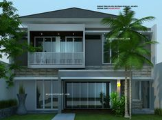 desain rumah 2 lantai minimalis_ tropis modern_fasade belakang