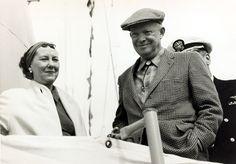 Dwight D. Eisenhower with Mamie Eisenhower in Newport, Rhode Island.   - TownandCountryMag.com