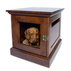 Have to have it. DenHaus TownHaus Wood Dog Crate Furniture - $449.99 @hayneedle.com