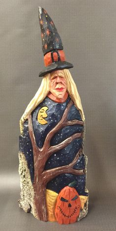 A personal favorite from my Etsy shop https://www.etsy.com/listing/281488020/hand-carved-original-large-halloween