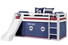 Halfhigh Aeroplane bed with slide by Hoppekids