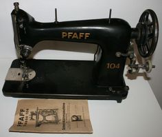 Sehr schöne, alte Pfaff-Nähmaschine PFAFF 104