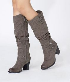 Buy Ruched Faux Leather Boots and other Boots at yeswalker