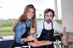 The #Dstage chef Diego Guerrero cooked at the #MMOpen Dekton stand with the captain of the Spanish synchronized swimming team Ona Carbonell, a perfect cooking assistant!