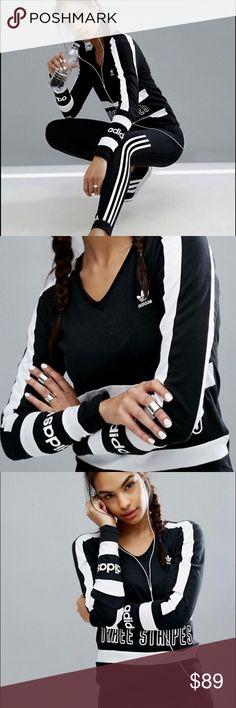 Adidas top Cute  adidas top . It fits like size small and medium. Adidas Tops Tees - Long Sleeve