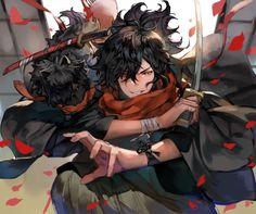 Fate/Grand Order, Izou Okada, Fate/GO bookmarks / 2019 - pixiv All Anime, Manga Anime, Anime Art, Anime Boys, Character Inspiration, Character Design, Northern Lights Norway, Handsome Anime Guys, Manga Pictures