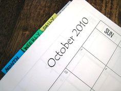 household organizing notebook. run smoothly