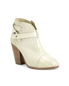 rag & bone Official Store, Harrow Boot - White Crocco, white fa, Womens : Shoes : Boots, W2428089Y